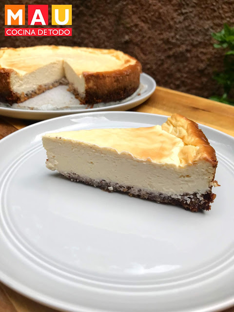 cheesecake pay pie de queso keto ketogenic cetogenico low carb sin azucar splenda stevia mau cocina de todo