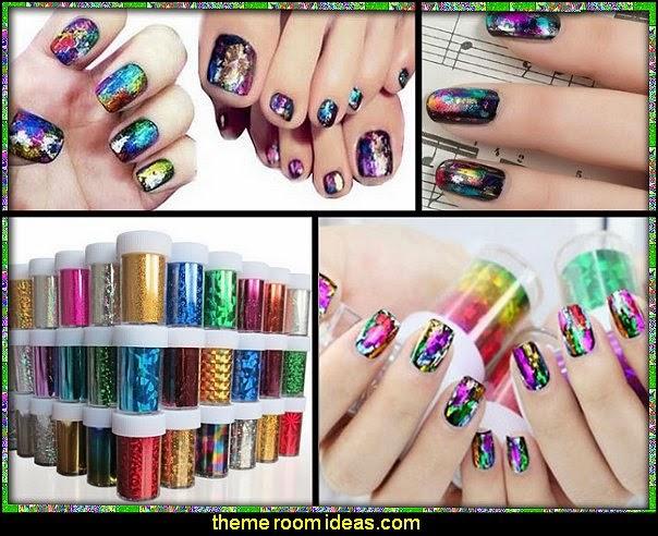 foil nail decorations-foil nail wrap decorations-foil nails art decorations