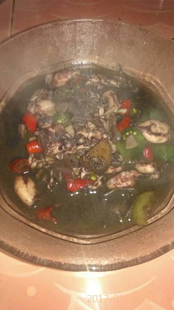 Resep cumi saus tiram asam pedas ala rumah makan ciwidey