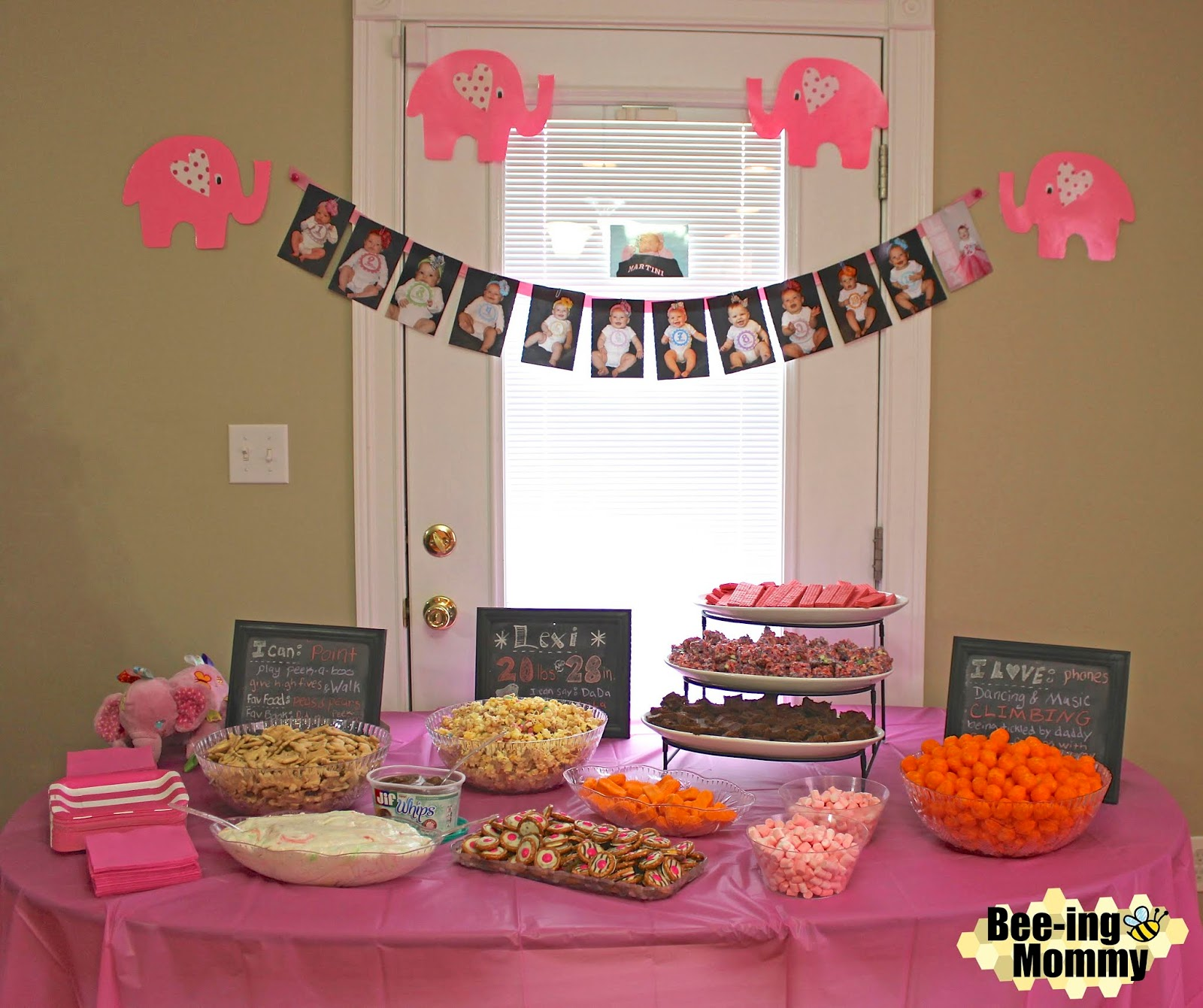 Bee-ing Mommy Blog: Pink Elephant First Birthday Party