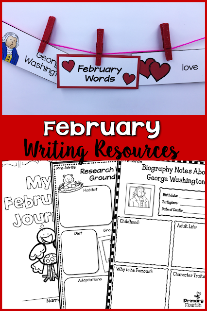 This Writing Resource set is packed with graphic organizers to meet all your writing needs for January. Your students will enjoy writing with these motivating resources. The resources are set up so that you and your students can choose the writing topics – you are not locked in to specific topics! I have even included 40 February-themed graphics to spark ideas for writing. No more, 'I don't know what to write about.'