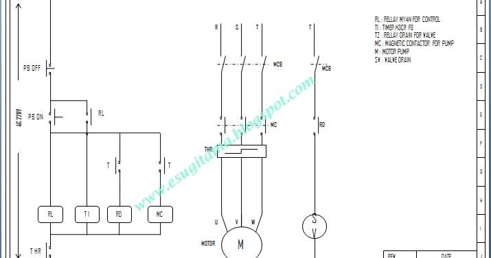 etnik sugitama  wiring diagram kontrol pompa dengan auto drain menggunakan timer