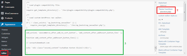Edit Function Wordpress Theme