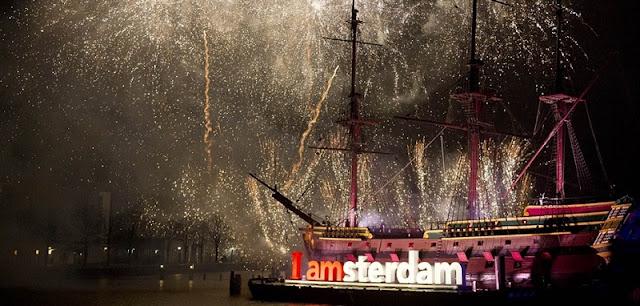 Virada do ano em Amsterdã