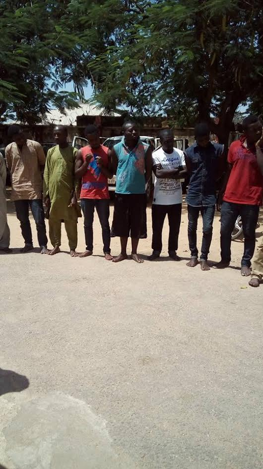 Photos: Bauchi State Police smash motorcycle-snatching syndicate