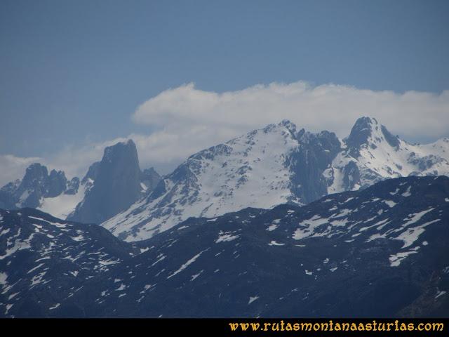 Ruta Ardisana, pico Hibeo: Vista del Urriellu