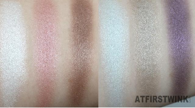 MUA (makeup academy) eyeshadow palette - Spring Break swatches (right side)