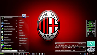 THEME WINDOWS 7 AC MILAN FULL GLASS