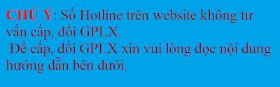 đổi gplx qua mạng internet