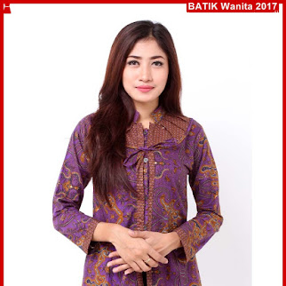 B5TBD Fashion Batik Cantika Pesta Ungu Bj98B5