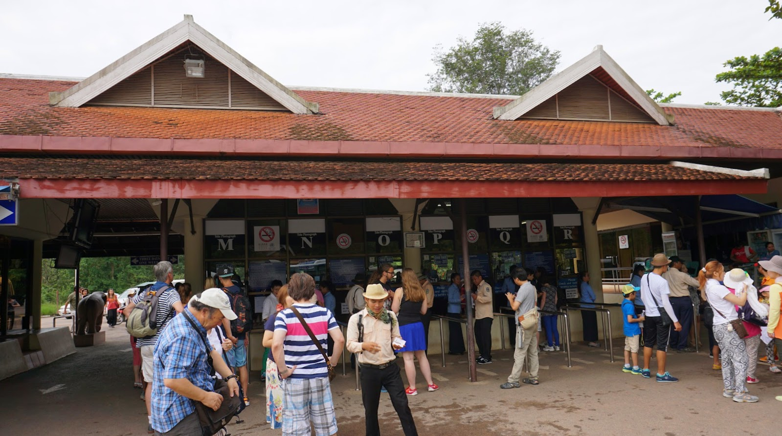 The ticketing booth at the entrance to Angkor Wat