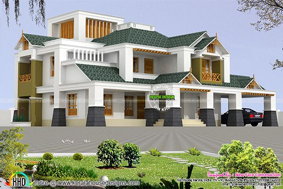 Modern house with luxurious facilities