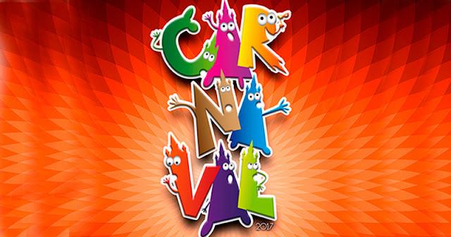 vista parcial del cartel anunciador del carnaval