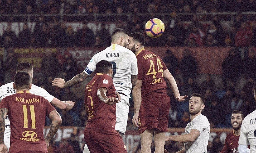 Serie A: posticipo Roma-Inter 2-2 con proteste giallorosse per un rigore negato (e il VAR non è servito).