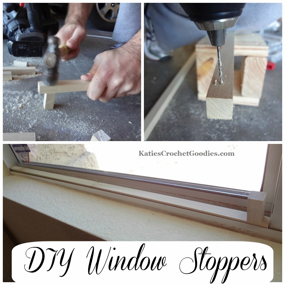 Diy Wood Window Stoppers Katie S Crochet Goodies