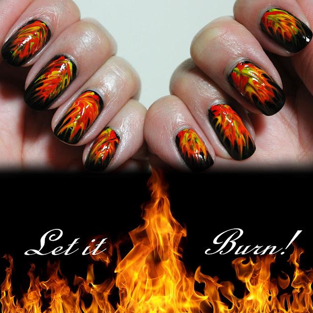Fire Nail Design