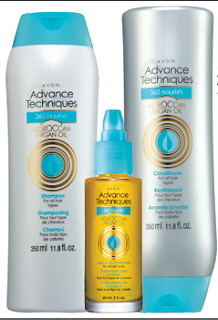 Avon 360 Nourish Argan Oil Hair Care