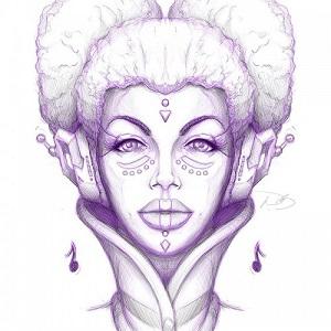 Afrofuturism portrait