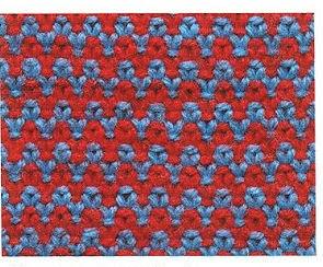 Разноцветное вязание спицами узоры схемы