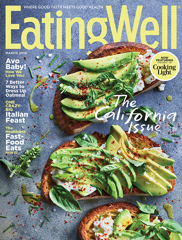 Cover of Eating Well Magazine: The California Issue featuring photography from Leigh Beisch
