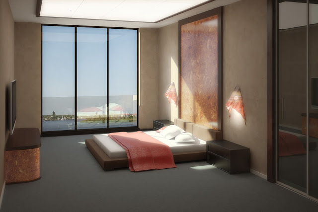 luxurious and comfortable bedrooms with modern interiors