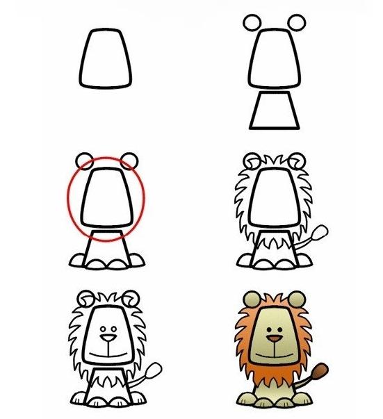 dibujar león