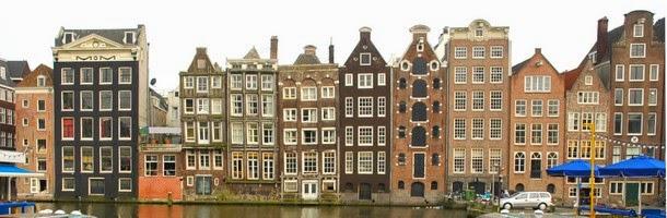 Casas pegadas en Ámsterdam