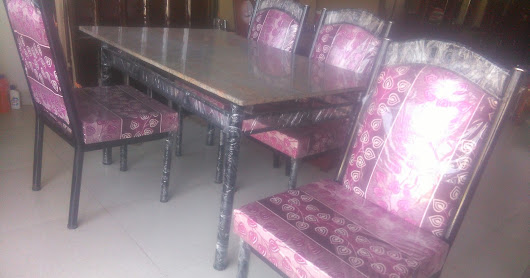Stone top dining table set for sale in Gobichettipalyam..8100rs only