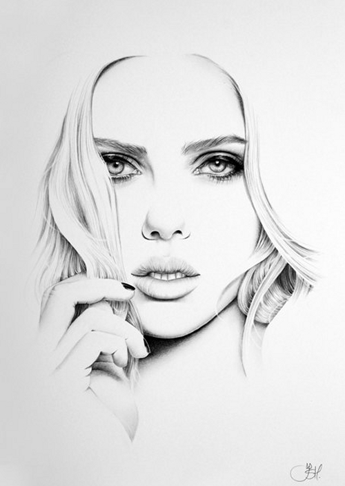 16-Scarlett-Johansson-Ileana-Hunter-Celebrity-Black-and-White-Stylish-Drawing-Portraits-www-designstack-co