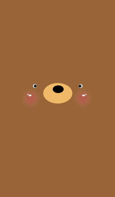 Simple Brown Bear Face theme