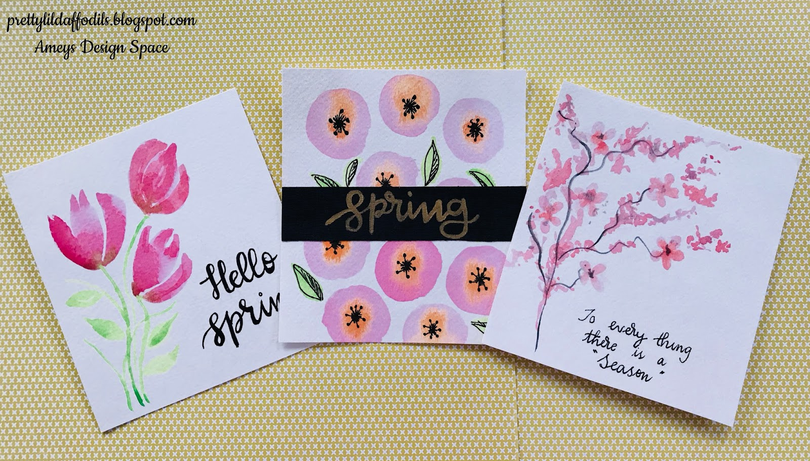 Pretty Little Daffodils Crafts And Diy Spring Inspired Watercolor