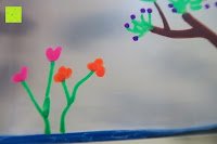 Blumen: Kreidemarker – 10er Pack neonfarbene Markerstifte. Für Whiteboard, Kreidetafel, Fenster, Tafel, Bistros – 6mm Kugelspitze mit 8 Gramm Tinte