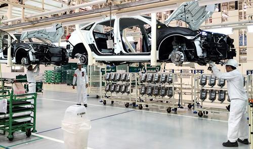 Produção de automóveis no Japão