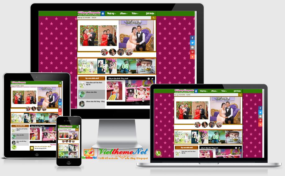 Template blogspot nhật ký cá nhân đẹp, chuẩn SEO, Responsive template
