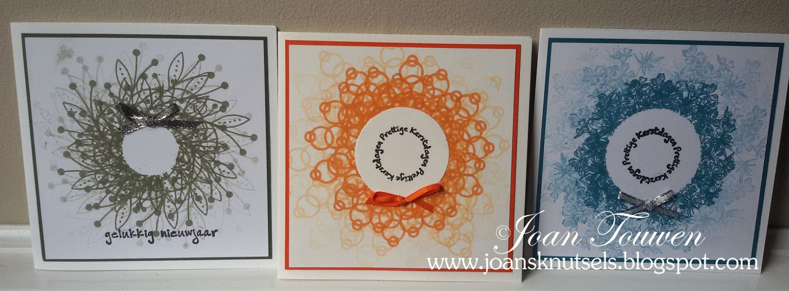 Inkerbell stamps™ design team: kerstkransen