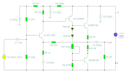 Low Power and Simple Power Amplifier