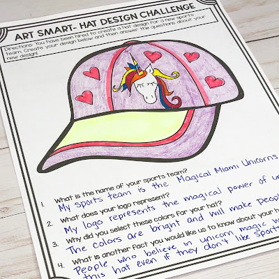 Picture of the Art Smart Activity Sheet- New Hat Challenge