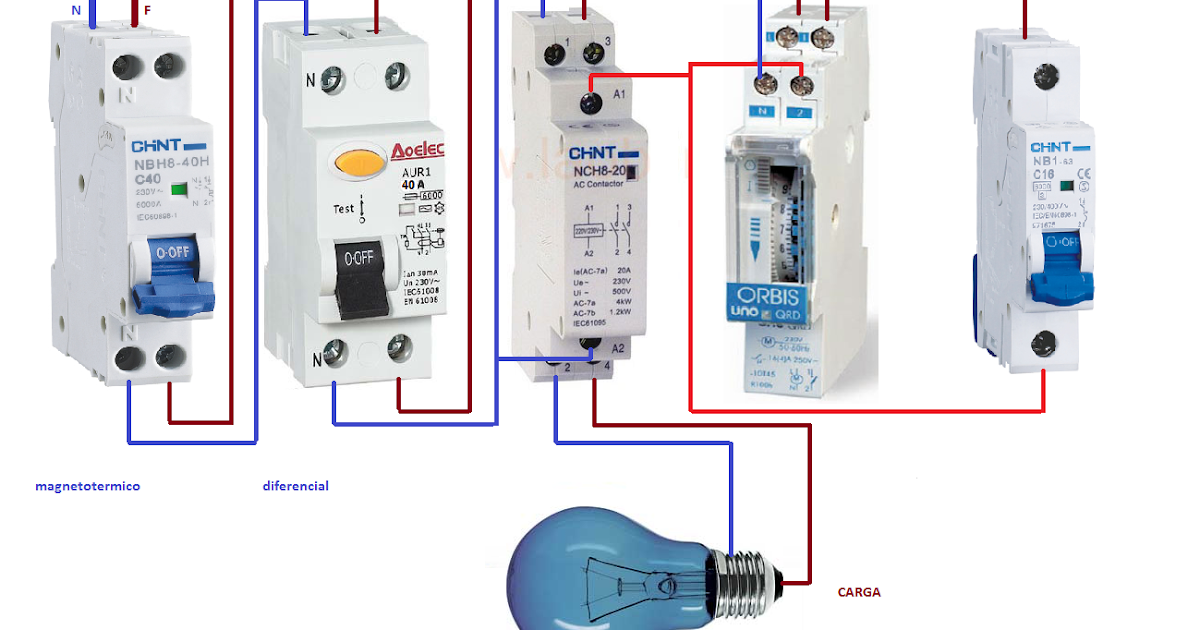 Esquemas Eléctricos Manual Automatico Contactor Reloj Horario
