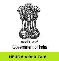 HPUNA Admit Card