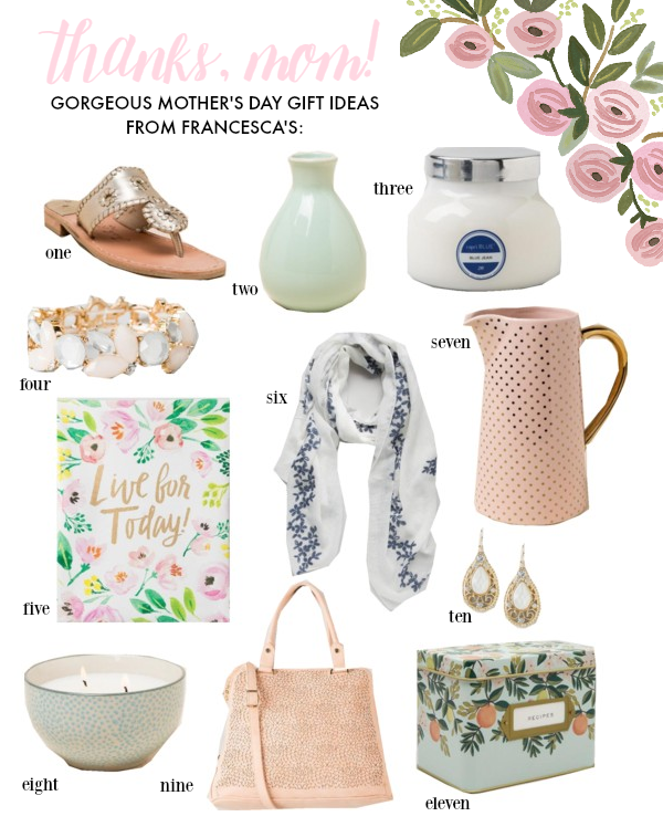 Mother's Day Gift Guide ft. unique & beautiful pieces from francesca's
