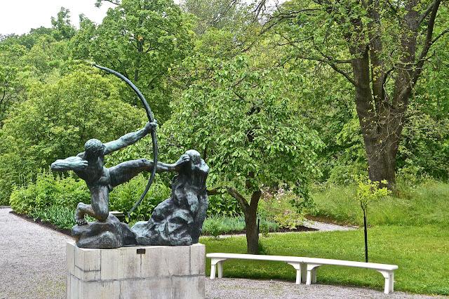 Stockholm, Waldemarsudde Prins Eugen : Héraclès  bronze original de Antoine Bourdelle 1909