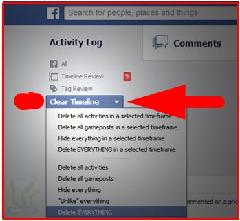 facebook activity remover add ons