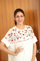Lavanya Tripathi in Summer Style Spicy Short White Dress at her Interview  Exclusive 202.JPG