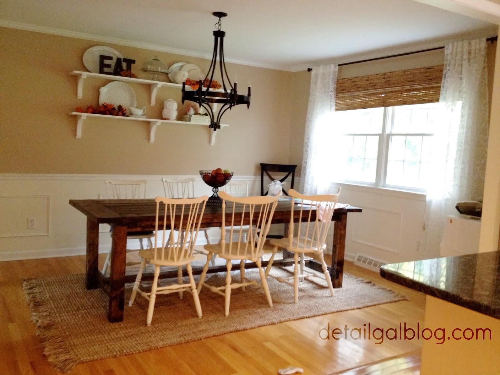 diy shelves for dining room shelf rugs under kitchen table DIY Shelves for Dining Room Shelf styling