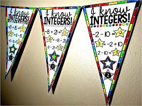 integers math pennant
