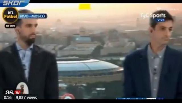 Presenter dan Pandit Argentina heningkan cipta 1 menit pasca dibantai Kroasia