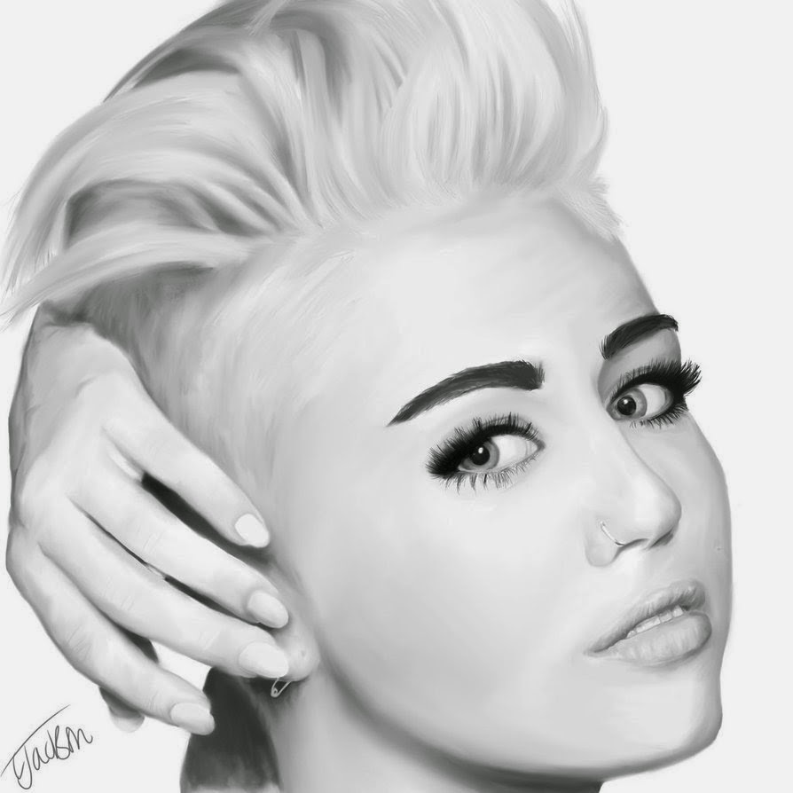 Miley cyrus drawing video