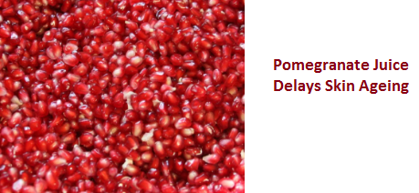 Pomegranate Juice Delays Skin Ageing