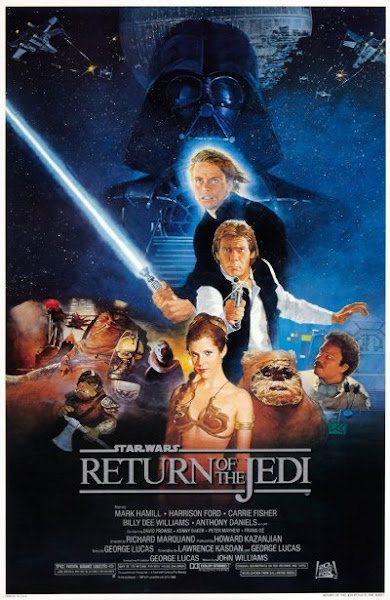 Poster of Star Wars Episode VI Return of the Jedi 1983 720p Hindi BRRip Dual Audio