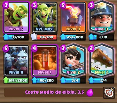 2 Mazo con Torre Infierno Clash Royale